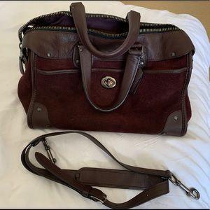 Coach oxblood suede handbag